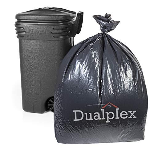 Dualplex 55 Gallon Black Trash Bags 2 Mil Garbage Bag 30 Bags Per Case 36 X 52