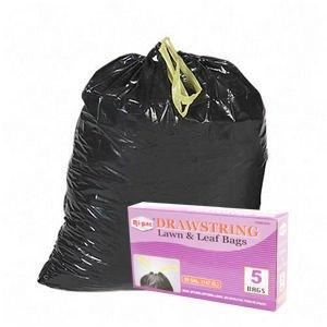 35pcs 39 Gallon Drawstring Large Lawnamp Leaf Trash Bags
