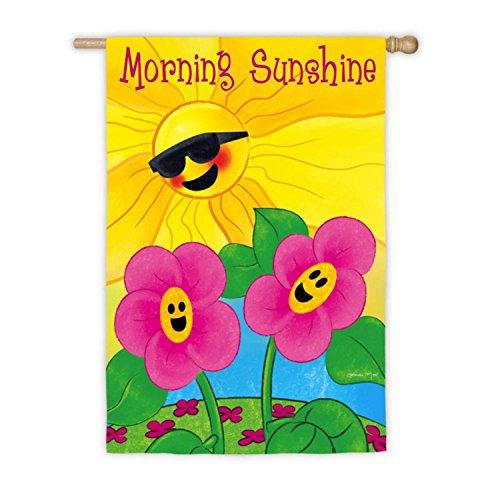 Cheery Spring Garden Morning Sunshine Decorative Outdoor Flag 43 x 29