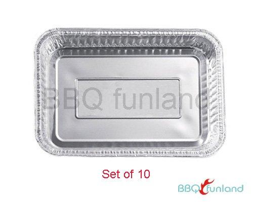 BBQ funland 85 X 6 Aluminum Drip Pans Set of 10