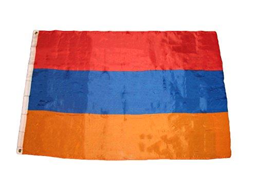 3x5 Armenian Flag of Armenia Includes 2 Nylon Flag Pole Clips