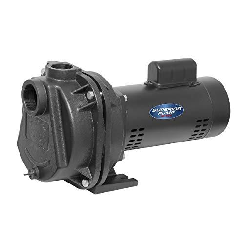 Superior Pump 96215 15 HP Cast Iron Sprinkler Pump Black