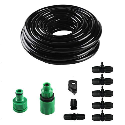 SdeNow Drip Irrigation Hose Poly tubing 38 031 ID x 043 OD Drip Watering Hose 50 Feet Black