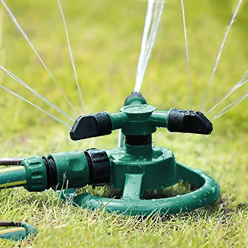 Flantor Lawn Sprinkler Water Sprinkler Garden Sprinkler Lawn Sprinkler Automatic Garden Water Sprinklers Lawn Irrigation System 3600 Square Feet Coverage Rotation 360° Adjustable Green