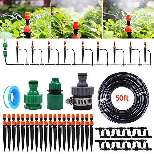 KiKiHeim Garden Irrigation System DIY Micro Drip Irrigation Kit for Potted Plant Greenhouse Flower BedPatioLawn