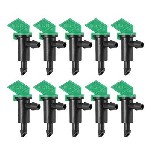 uxcell Flag Dripper 4 GPH 16LH Emitter Sprinkler for Garden Lawn Drip Irrigation Connect 47mm Hose Plastic 30pcs