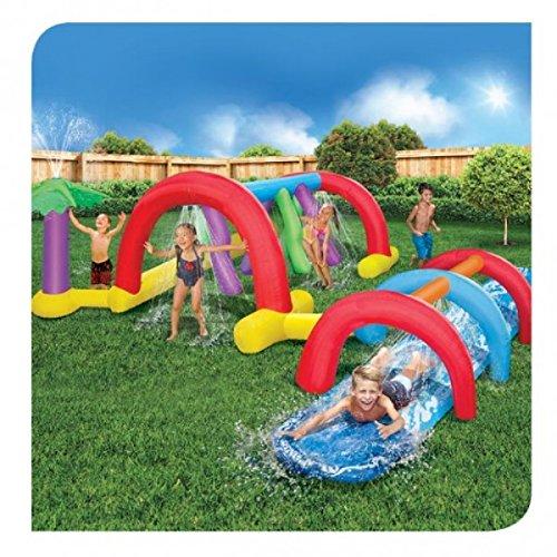 Backyard Adventure Water Park Slide Sprinklers 179 Foot Long Fun Course Party