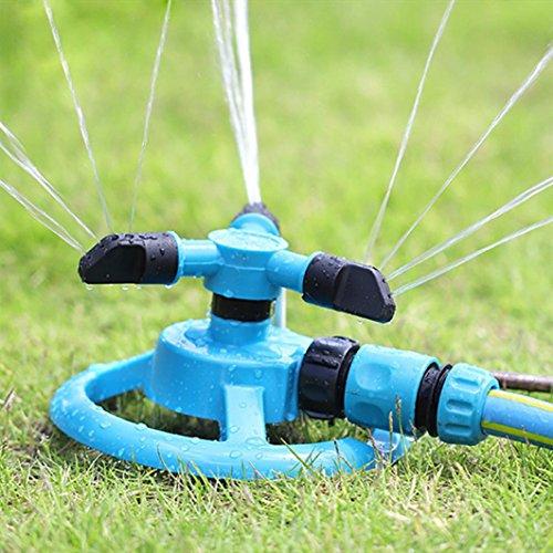 OVERMAL Water SprinklerAutomatic Garden Lawn Impulse Sprinkler 360 Degree Rotation