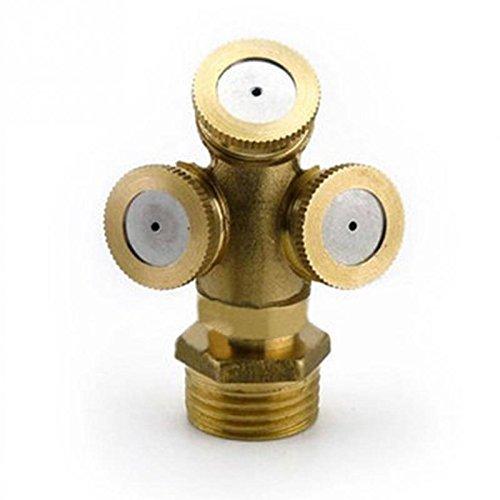Sprayer To Cool Dust 12 Brass Agricultural Mist Spray Nozzle Garden Irrigation System lawn Sprinkler Irrigation Nozzle -Pier 27