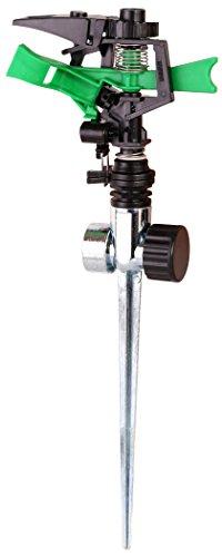 Plastic Impact Lawn Water Sprinkler Sprayer Large Metal Spike Adjustable 0° to 360° Pattern 15 - 38 Spray Distance Flow Control Knob High Pressure medium to large Garden watering areas