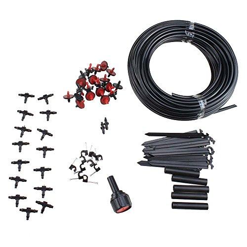 Agptek 23m Diy Micro Drip Irrigation System Plant Self Watering Garden Hose Kits 71pcs