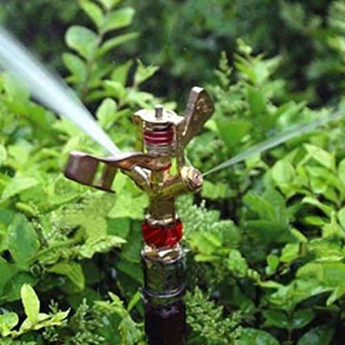 Garden Irrigation Sprinkler 12 Inch Dual Connector Zinc Alloy 360 Degree Rotate Rocker Arm Water Sprinkler Spray Nozzle -Pier 27