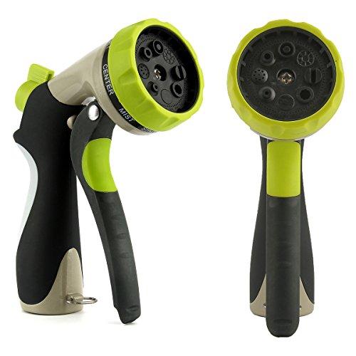 Garden Sprinkler Spray Nozzle Oenbopo Garden Watering Gun Nozzle Sprayer Dispenser Sprinkler 8 Adjustable Pattern Pistol Grip Front Trigger Water Nozzle with Connector8 Spray Patterns