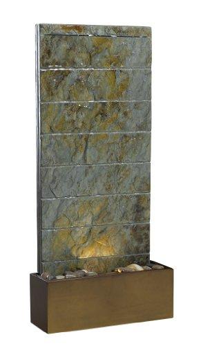 Kenroy Home 50621SL Brook IndoorOutdoor FloorWall Fountain in Natural Slate Finish