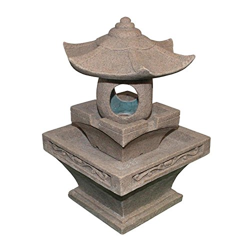2425 Decorative Asian Inspired Pagoda Spring Outdoor Garden Water Fountain