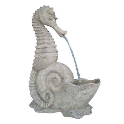 24&quoth Roman Stone Seahorse Fountain Sculpture