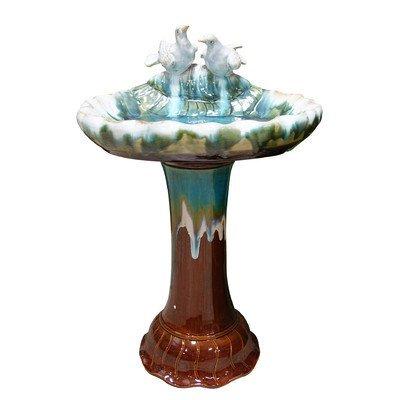 Alpine TXT102 Ceramic Bird Bath