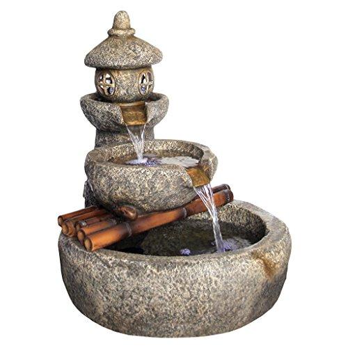 Design Toscano Tranquil Springs Pagoda Garden Fountain