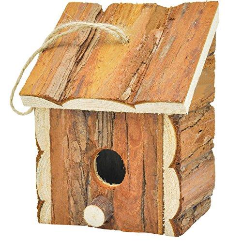 Gardirect Wood Decorative Birdhouse Hanging Wooden Garden Bird House