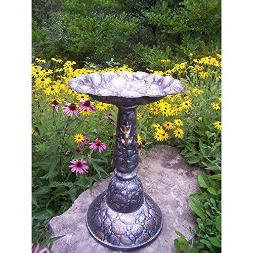 Oakland Living Rock Birdbath Antique Pewter - 5973-ap hj7-545mki94 G1509474