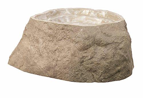 Outdoor Essentials Faux Birdbath Rock  Tan  Medium