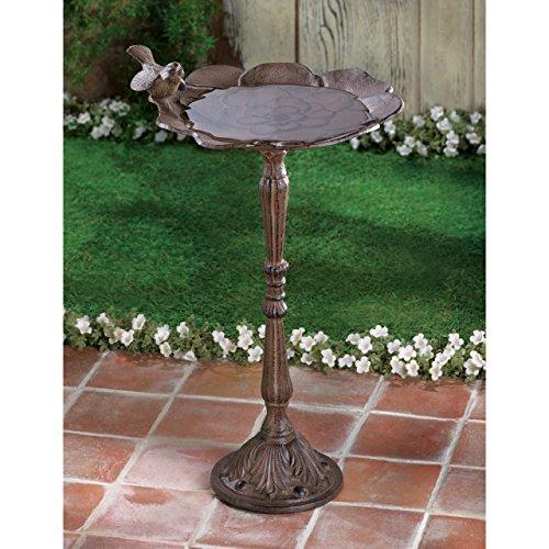 Birdbaths Play Tiffany Style Cast Iron Verdigris Leaf Water Feeder Bowl Molds Outdoor Bird Visitor Metal Liner