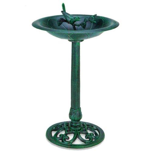 Verdigris Bird And Twig Birdbath - Pedestal Birdbath Green Verdigris Product Skupb11125