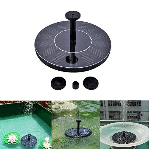 Aerwo Solar Powered Fountain Kit 14w Outdoor Solar Panel Bird Bath Fountains Water Pump For Birdbathgardenpool