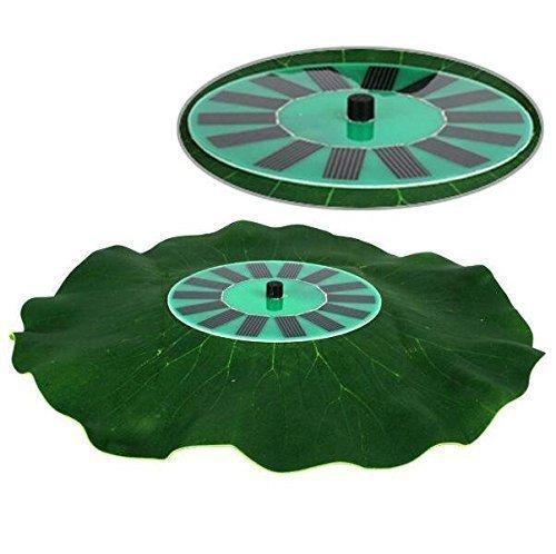 Ebotrade Solar Power Brushless Lotus Leaf Fountain Submersible Water Pump For Pond Pool Falls Fish Tank Bird Bath