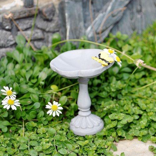 Miniature Fairy Garden Butterfly Birdbath Pick