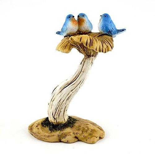 Top Collection 4402 Miniature Fairy Gardenamp Terrarium 3 Bluebirds On Mushroom Bird Bath Statue Small
