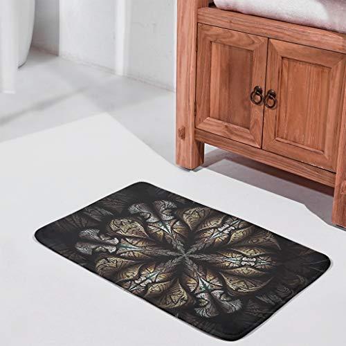 Sheeouis Mandala Black Pattern Door Mat Durable Rubber IndoorOutdoor Decorative Carpets Floor Rug for Garden Bath White 16x24 inch