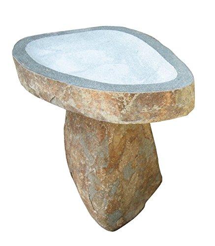 Stone Age Creations Bb-bo-1 Granite Boulder Birdbath Natural Large