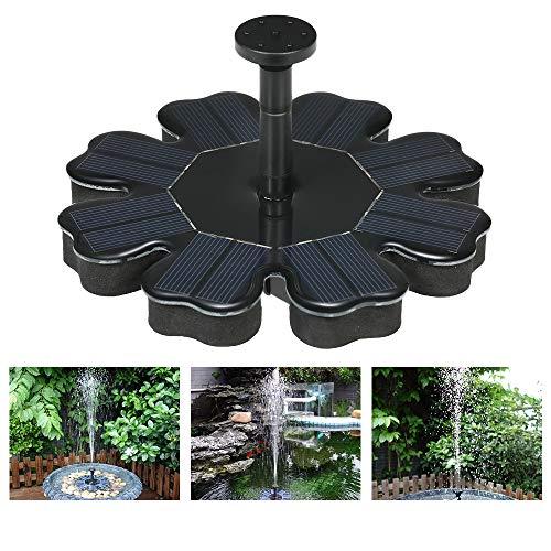 Qianlai 8V Brushless Water Fountain Floating Solar Fountain Garden Water Pump180 LH Bird Bath Pond Garden Decor 4 Nozzles Waterproof