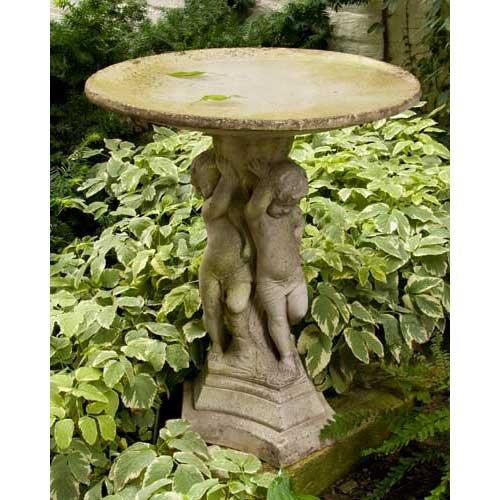 Orlandistatuary Fs8237 Birdbath Bella Bimmbi Sculpture 22&quot White Moss Finish