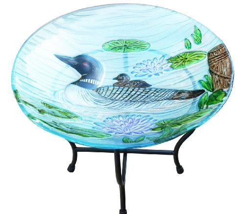 Garden Art Loon Birdbath With Stand