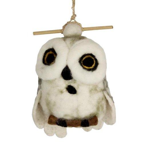 Dzi Handmade Designs Dzi484057 Snowy Owl Felt Birdhouse