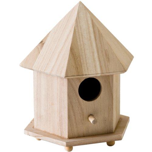 Plaid Wood Surface Crafting Birdhouse 12740 Gazebo