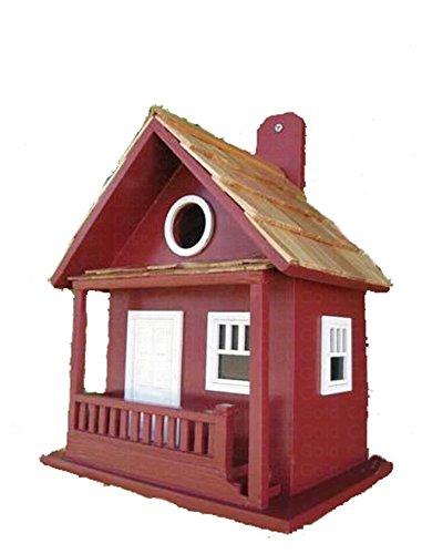 Home Bazaar Kottage Kabin Birdhouse Red