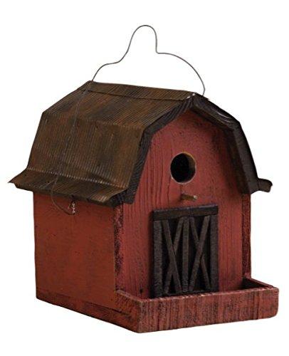 SONGBIRD ESSENTIALS 008115 Little Red Barn Birdhouse RedCopper Roof