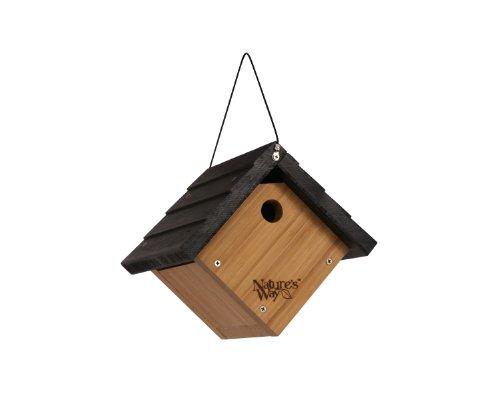 Natures Way Bird Products Bwh1 Bamboo Traditional Wren Hanging Bird House