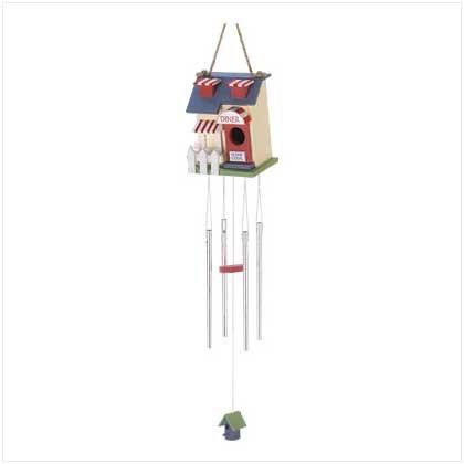 Diner Birdhouse Windchime - Style 39560