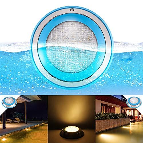 AOZBZ Pool Lights Waterproof IP68 Warm White Swimming Pool Light 12W 12V DC Led Inground Pool Light