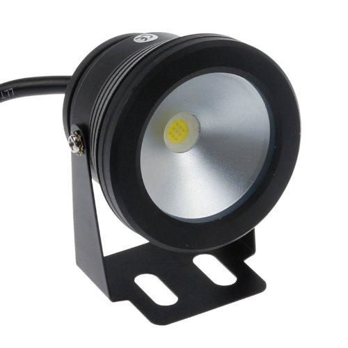 Lemonbest 10w 12v Black LED Underwater Floodlight Ip68 Waterproof Landscape Fountain Pond Pool Lamp Cool White