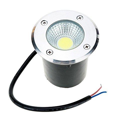 SinoPro 10W LED COB Underground Path Light Yard Garden Landscape In-ground Lights Outdoor Decorative Spotlight ACDC 12V IP67 Waterproof