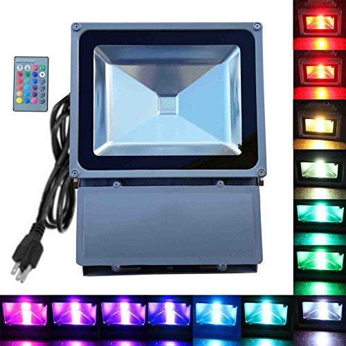 100w Rgb Flood Light - Tdltek 100w Rgb Color Changing Led Flood Light spotlightlandscape Lampoutdoor Security
