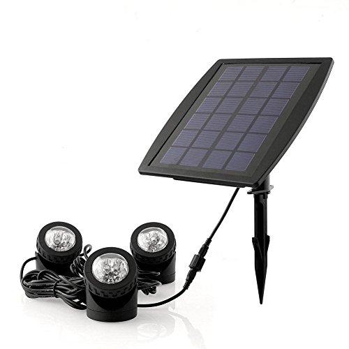 Deckey Solar Powered Rgb Led Landscape Spotlight Outdoor Security Night Light Solar Fish Tank Light Adjustable