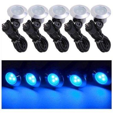 10 Pack LED Deck Lighting Fixture w Transformer Color Opt