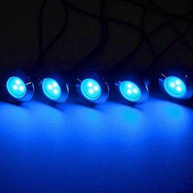 5 Pack 12v LED Recessed Deck Lighting Fixture