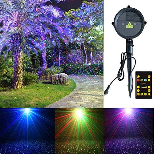 Garden Lights Moving Lights Tepoinn Star Projector Outdoor Dynamic Red Green Blue Rgb Motion Landscape Spotlights